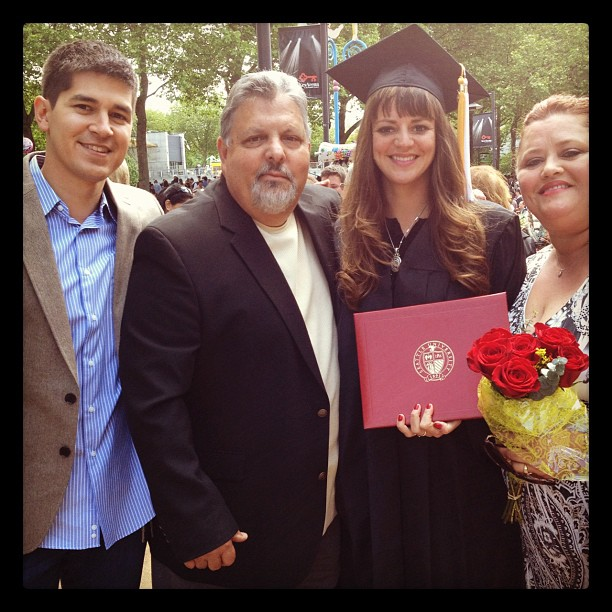 Sarah Swihart (2nd to right) with her parents and fiance at her Seattle University graduation Spring of 2012. She'll be returning to Seattle U this fall to begin a Masters in Public Administration with a powerful perspective that will make her a great policy advocate!
