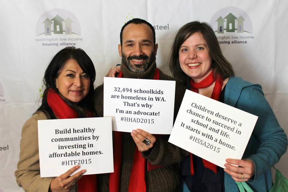 Advocates from across the state joined HHAD in person and in spirit. Many of them shared their messages at our photo booths in Olympia and at Seattle University!