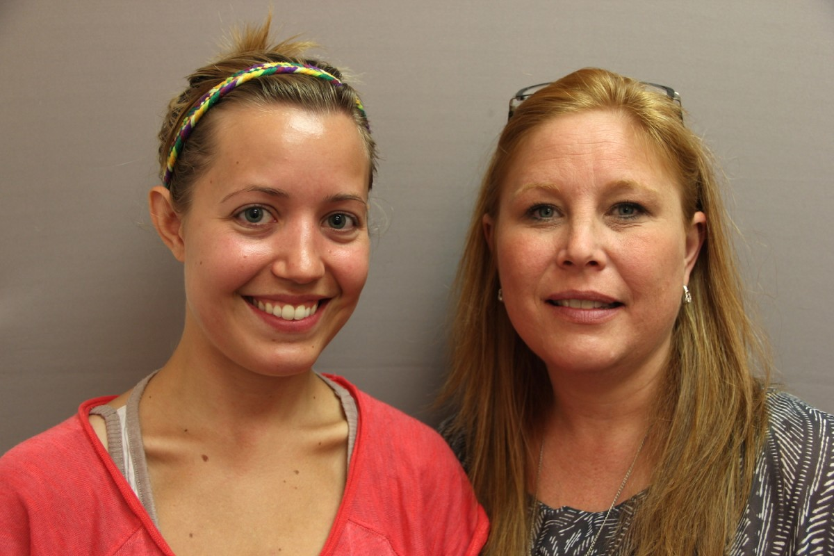 """In the newest StoryCorps """"Finding Our Way"""" story, Jordan Hedgecock (left) tells Tanya Mettlen from Catholic Community Services about facing homelessness after leaving an abusive relationship. Image credit: StoryCorps."""