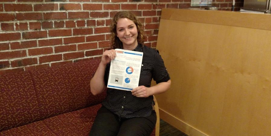Brandy Sincyr, Homeless Student Advocate and Program Assistant at Columbia Legal Services, recently created a report that highlights state data showing that schools are under-identifying students experiencing homelessness. Photo courtesy Columbia Legal Services.